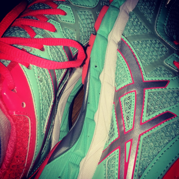 I've always been a Nike girl, but after giving in to quality running shoes for this half--I finally understand the Asics hype...and they're mermaid colors--so there's that.