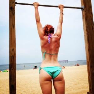 No judgements here, just comments about my back definition--guess sand makes it okay.